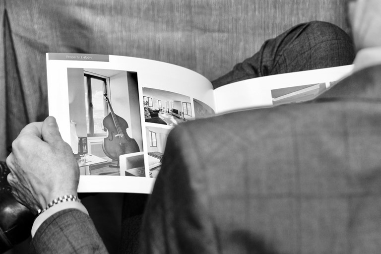 Reading book bw